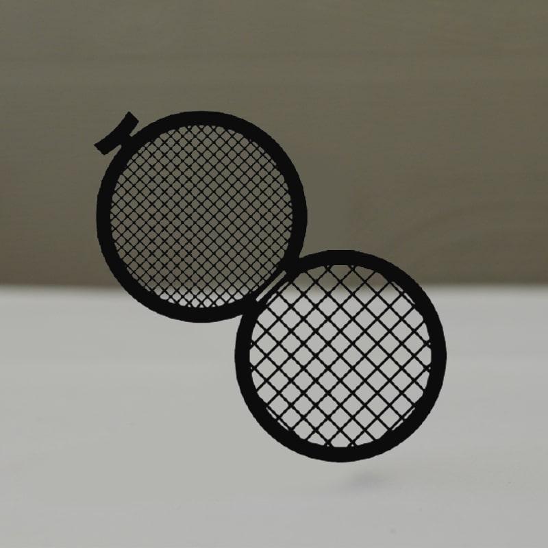 Сеточки для микроскопии, двойные, медные, Тип GD100/200