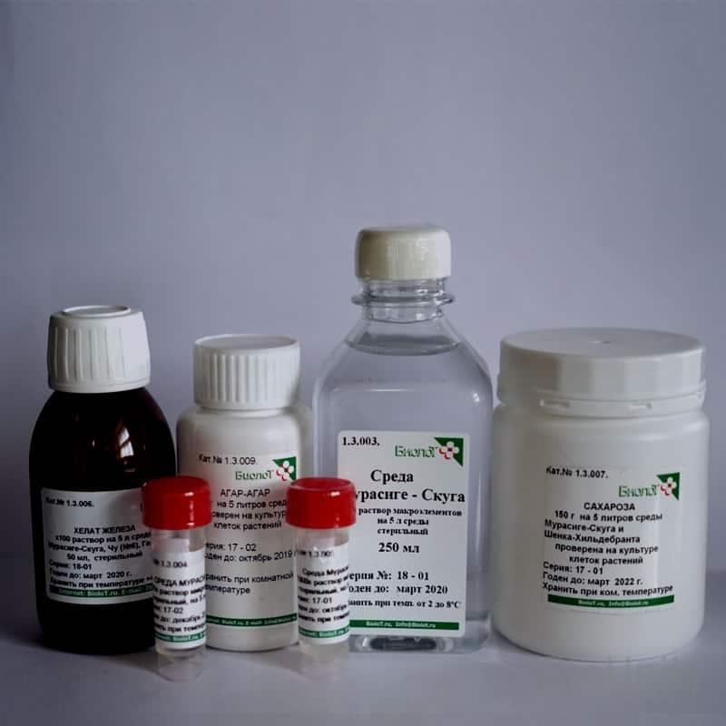 Набор реагентов для приготовления 5 литров среды МУРАСИГЕ-СКУГА