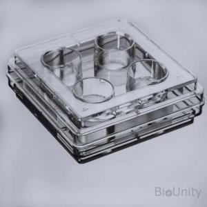 Планшет культуральный 4-луночный, с необработанной поверхностью, для суспензионных культур клеток, с крышкой, плоскодонный, стерильный, PS
